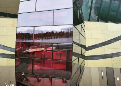 National Museum of Australia glass facade. Laminated by FGS Glass