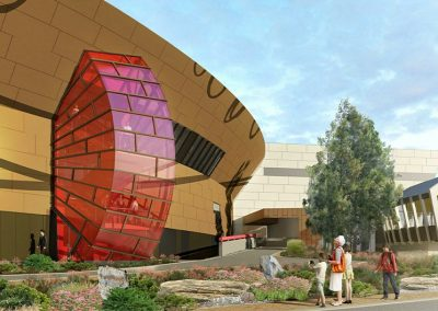 Artists impression of the National Museum of Australia glass facade. Laminated by FGS Glass